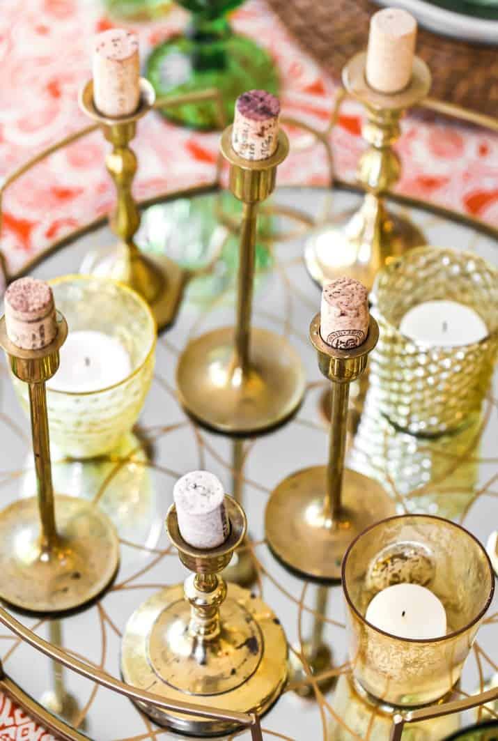 candlestick centerpiece