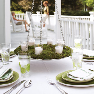 Magical Moss Centerpieces