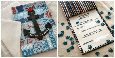 diy nautical invitation