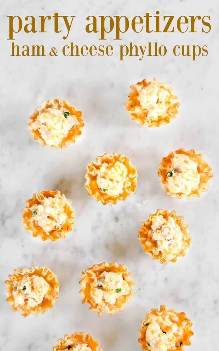 party appetizers ham & cheese cups