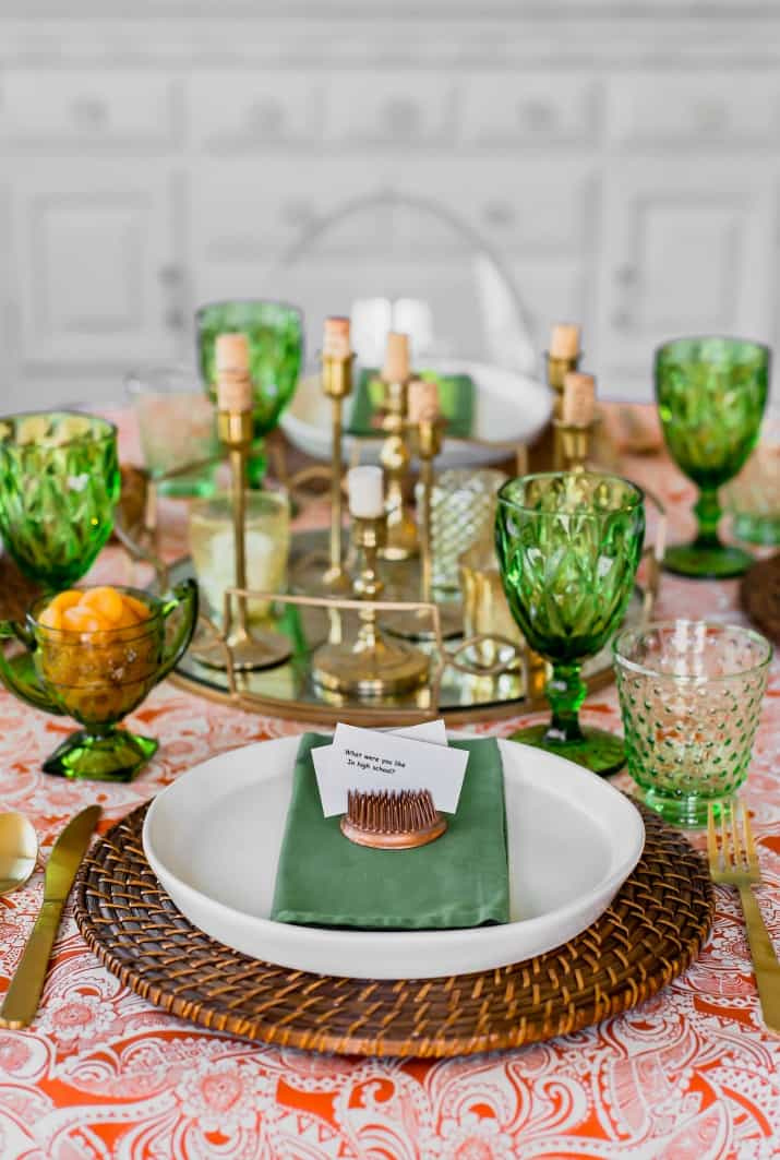 simple table setting for entertaining friends at home