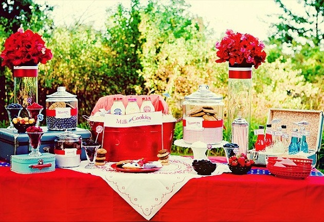 Summer Backyard Party Ideas : All American Backyard PicnicStyle Shoot ? Celebrations at Home