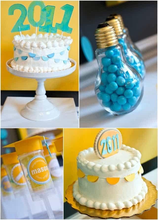 graduation party a bright future cake and dessert
