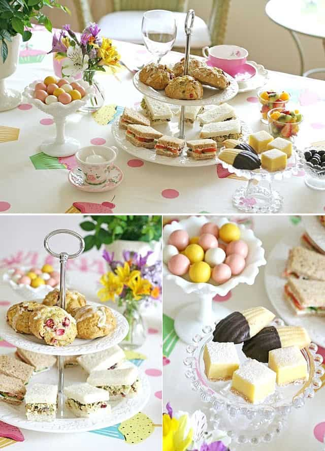 tea table collage