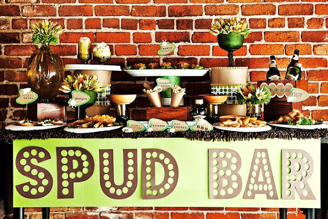 Pick your potato bar guest feature celebrations at home for Food bar catering