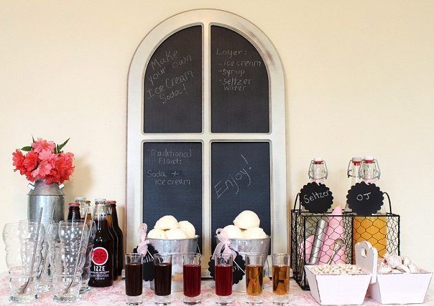 How To Set Up An Ice Cream Soda Bar