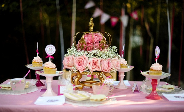 Pink Princess Tea Party Styled Shoot