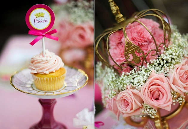 pink princess tea party decorating details