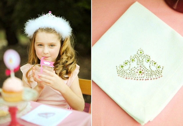 pink princess tea party diy napkins