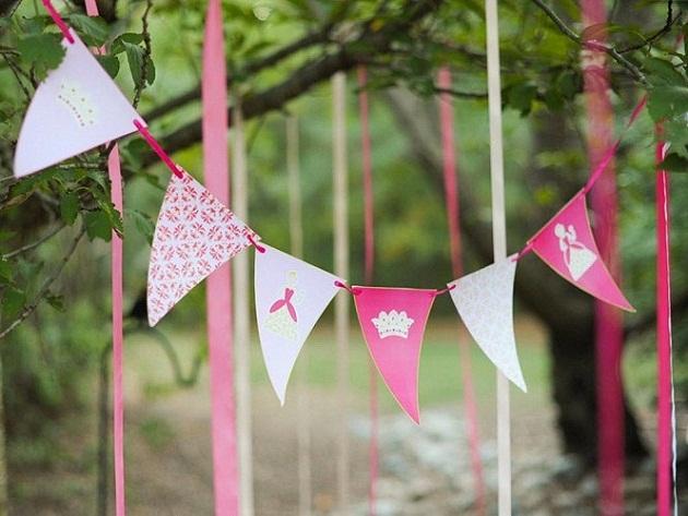 festa-decoração-princesa-bandeirinhas-tutu-tules