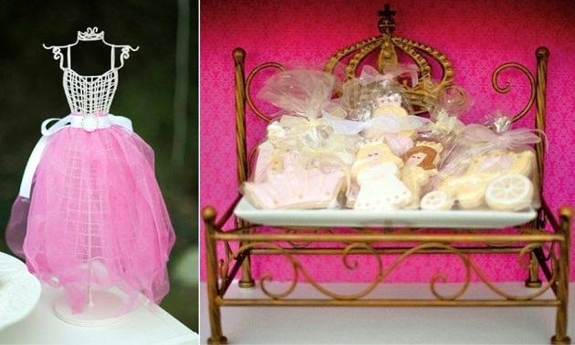 pink princess tea party decor