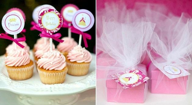 festa-decoração-princesa-rosa-tutu-tules