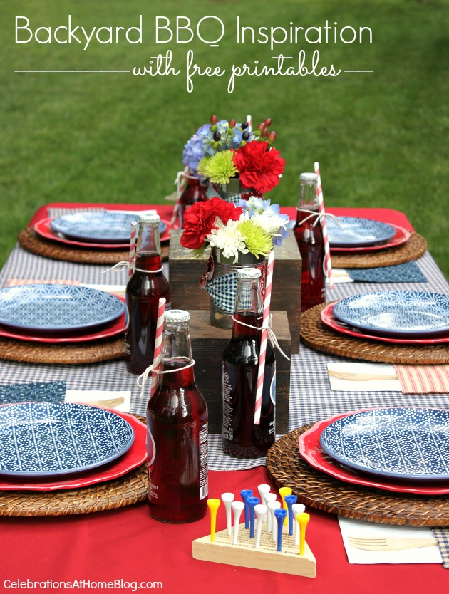 backyard bbq ideas and inspiration with free printables