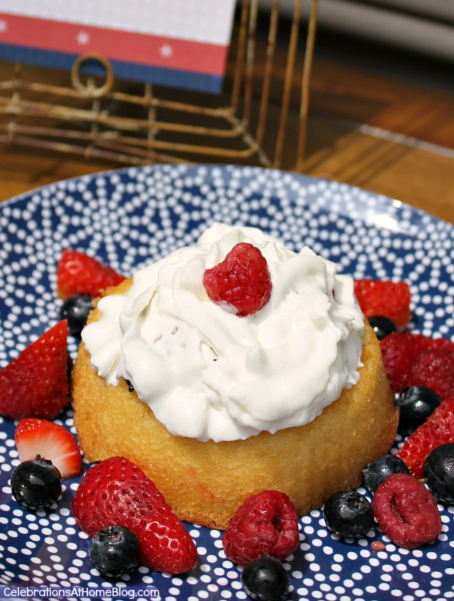 """Set up a """"build your own shortcakes"""" dessert bar with different berries to choose from. The perfect summer party dessert."""