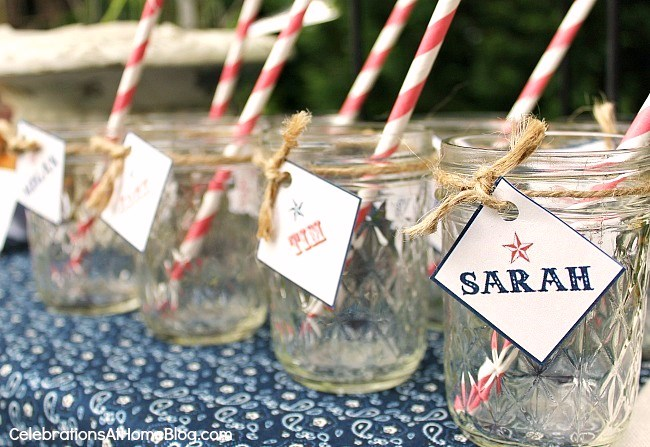 Backyard bbq inspiration and FREE printables here.