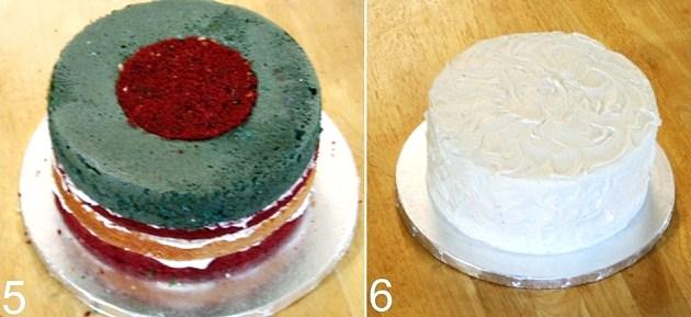 steps to make a flag cake