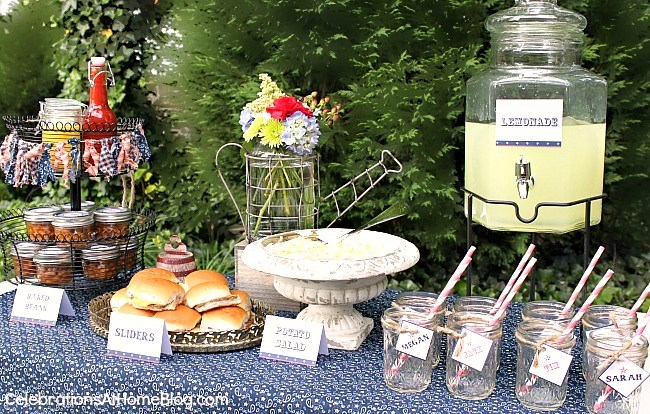 Ideas and FREE printables for a summer cookout.