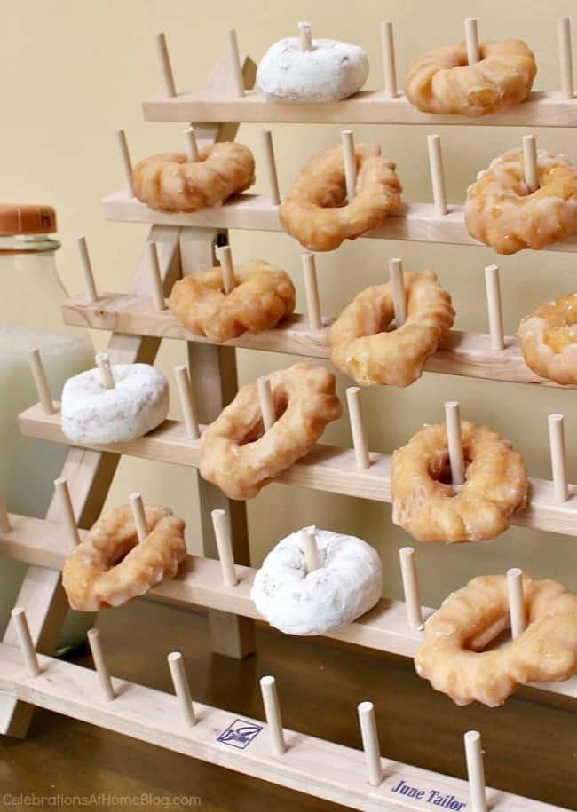 trend alert donuts; donut tree; donut display