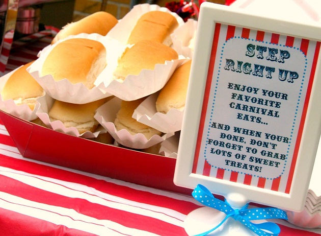 Circus themed birthday party guest feature celebrations at home - Carnival party menu ...