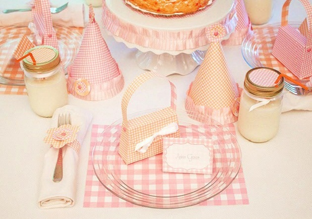 \u201cWhen I read the theme was \u201cPink and Orange\u201d I knew instantly the party I wanted to create. A few months ago I designed an invitation for a sweet little ... & Classic Gingham Birthday Party Vendor Challenge - Celebrations ...