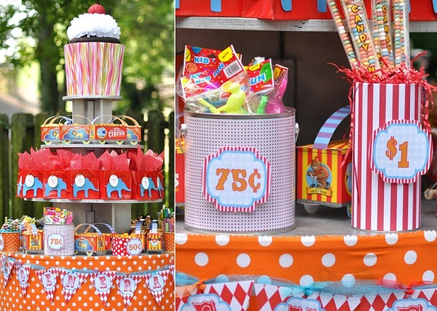 Classic Carnival Birthday Party Ideas