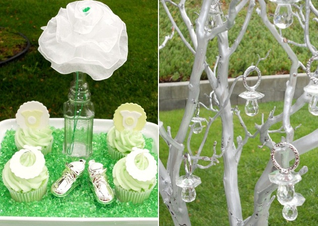 Purple And Lime Green Baby Shower Decorations  from celebrationsathomeblog.com