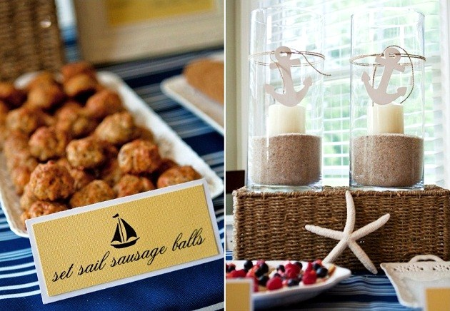 Nautical baby shower brunch guest feature celebrations for Baby shower nautical decoration