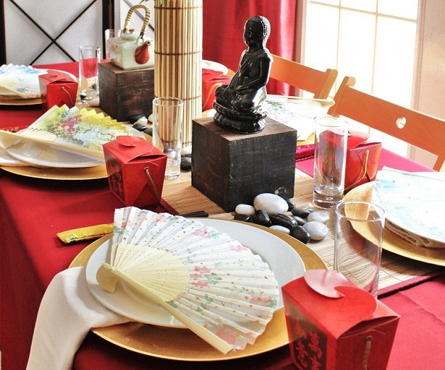 How to host an asian themed dinner party celebrations at for Asian wedding house decoration ideas
