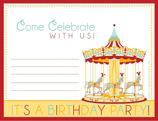 photograph relating to Printable Carnival Birthday Invitations referred to as Carnival Social gathering - Cost-free Downloads - Celebrations at House