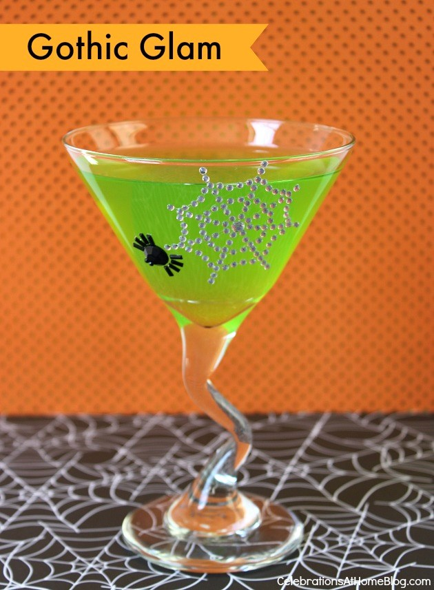Dress up your drink for Halloween with Gothic glam details