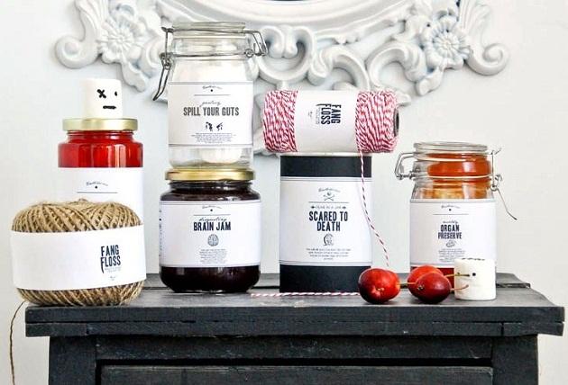 free halloween printable food jar labels celebrations at home