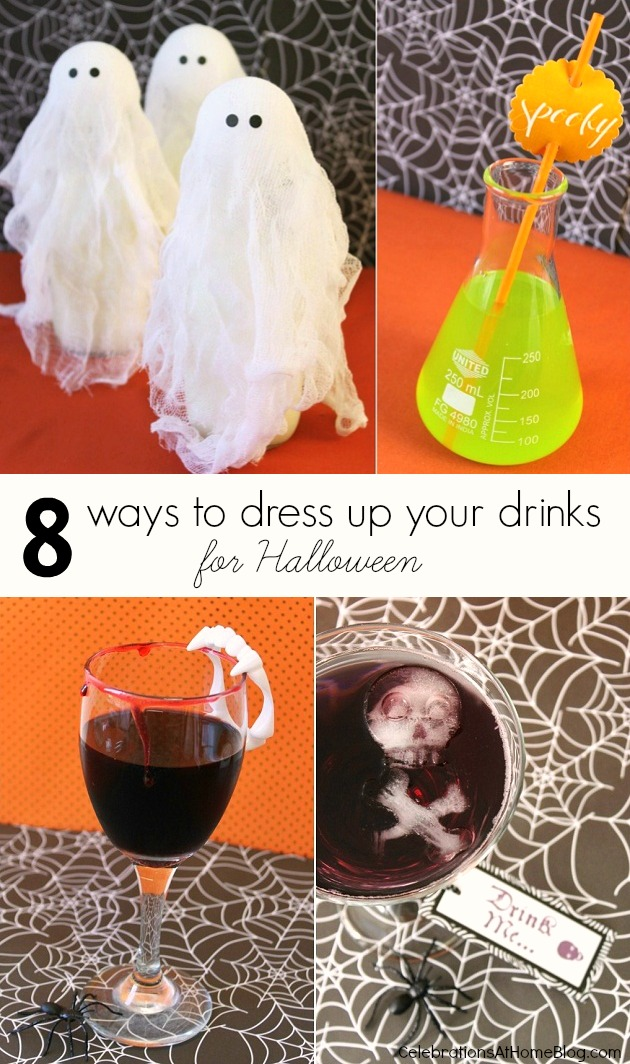 8 ways to dress up your drink for Halloween