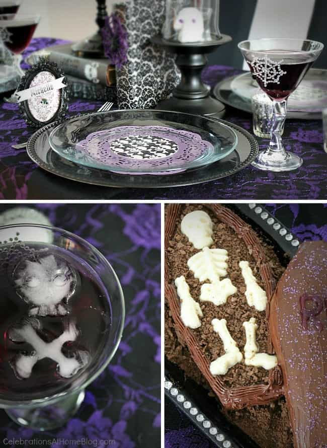 Host a Halloween gothic glam ladies night with these ideas.