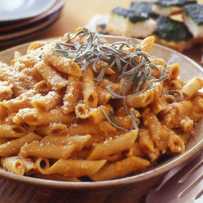 Pumpkin Penne Pasta - Celebrations at Home