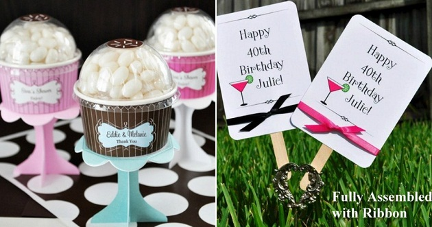 Accent The Party With Personalized Favors