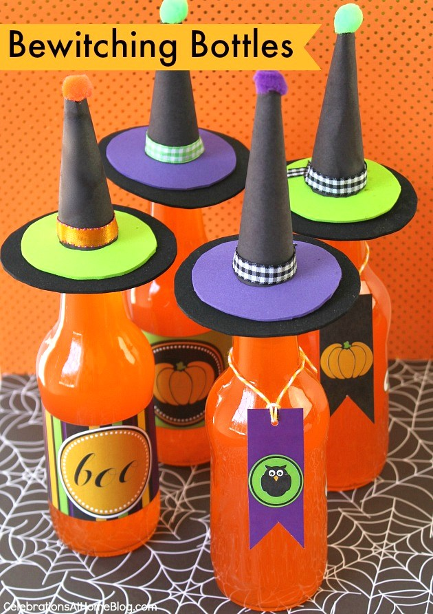 Dress up your drink for Halloween with bewitching bottles