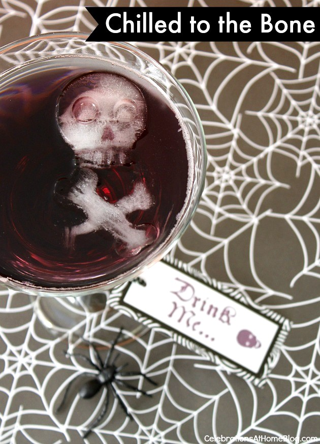Dress up your drink for Halloween with chilled to the bone ice shapes