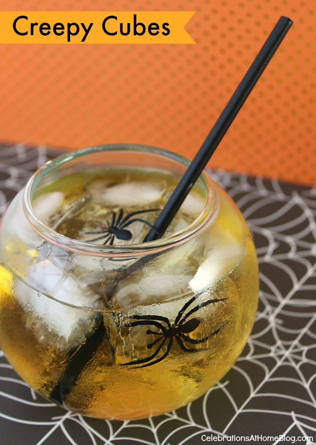 Dress up your drink for Halloween with creepy cubes