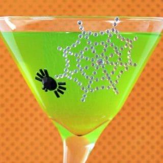 green goblin punch Halloween recipe card