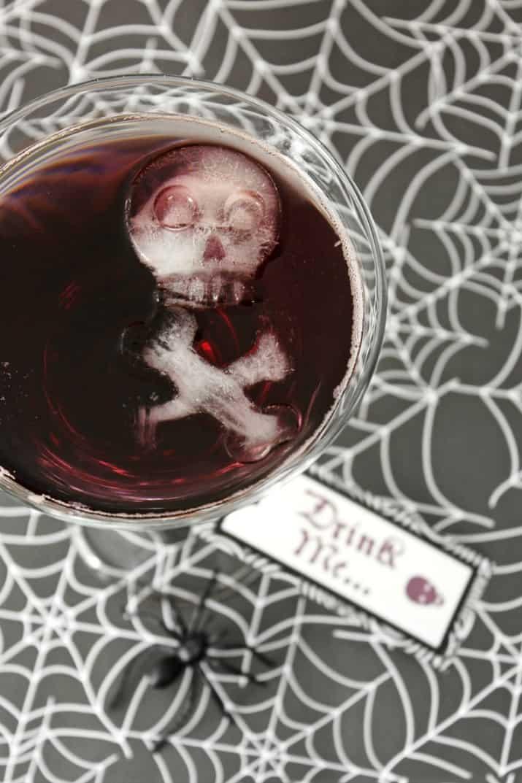 Halloween black magic cocktail