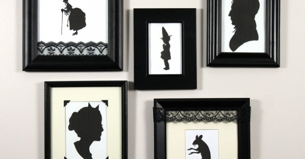 Halloween Framed Silhouette Wall + FREE Downloads