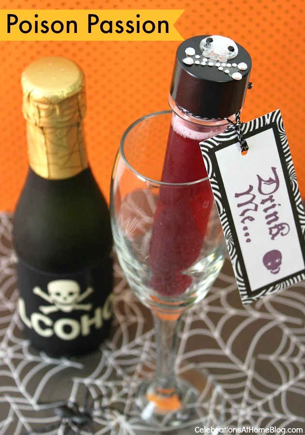 Dress up your drink for Halloween with poison passion