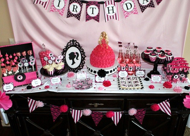 Swell Barbie Inspired Birthday Party Celebrations At Home Interior Design Ideas Clesiryabchikinfo