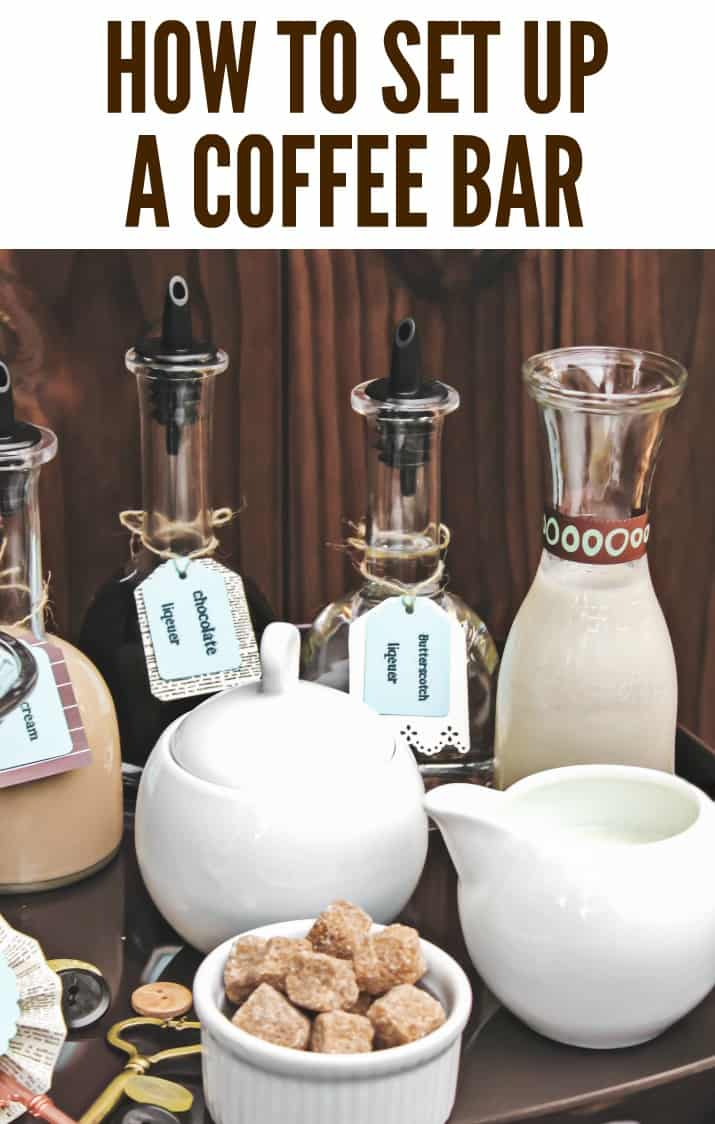 coffee bar tray for entertaining