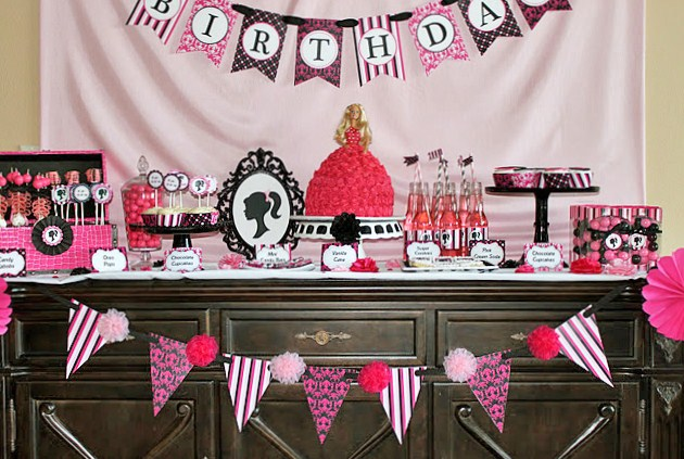 Barbie Inspired Birthday Party Celebrations At Home