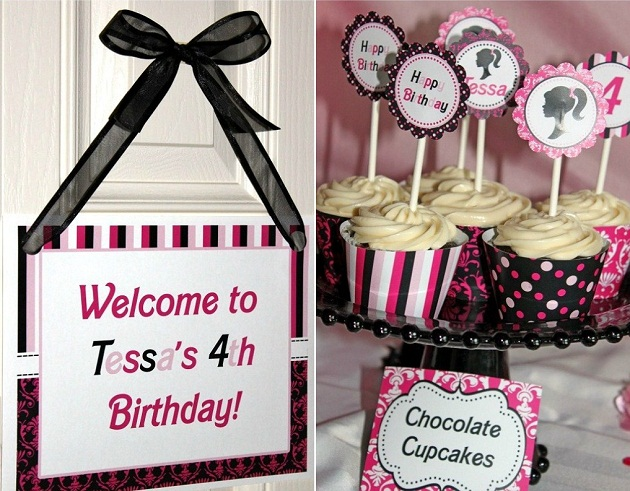 Pleasing Barbie Inspired Birthday Party Celebrations At Home Interior Design Ideas Clesiryabchikinfo