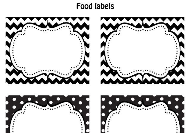 FREE Black & White Printable Labels