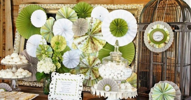 Paper Fans Add Stylish Decor