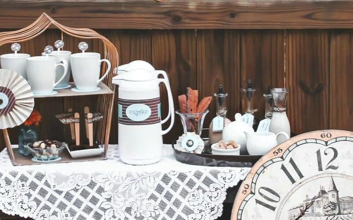 coffee bar for a party