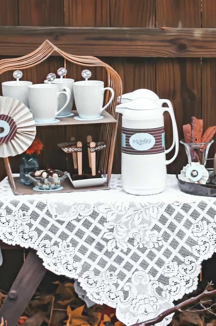 coffee bar pitchers and mugs